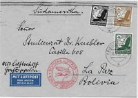 Graf Zeppelin 127, 4th Flight from Germany to Bolivia in 1935, Scarce sending.