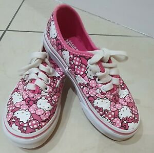 VANS Hello Kitty Pink Lace Up trainers Size 10 girls