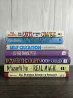Vintage Self Help book lot 7 power thoughts, Efficiency, Change, Success