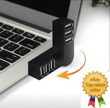 HIGH SPEED 3 PORT USB 2.0 MULTI HUB SPLITTER Expansion PC Laptop Adapter - Led💡