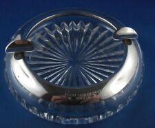 Aschenbecher Glas Kristallglas Silbermontur Wilhem Binder 835er Silber