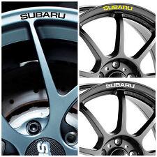 x8 SUBARU Rims Alloy Wheels Curved Decals Stickers Graphics Impreza WRX STI BRZ
