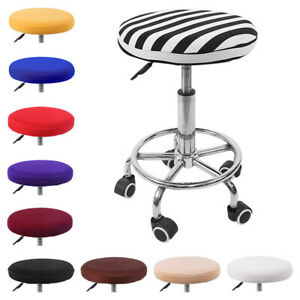 Stretch Spandex Bar Stool Cover Slipcovers Round Chair Seat Cover Decor Washable