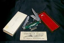 Schrade Walden Knife E-4 Thomas Jefferson American Eagle & 1/2 Packaging, Sleeve