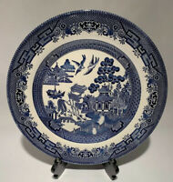 """Blue Willow 10 1/4"""" Dinner Plate by Churchill Potteries England"""