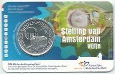 Coincard Nederland 5 euro Stelling van Amsterdam UNC kwaliteit