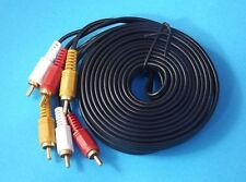 AV Cable 3RCA 3 RCA Male Audio Video Cord Composite Yellow/Red/White TV DVD 5M