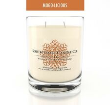Caramel Vanilla Double Wick Large Scented Soy Wax Glass Jar Candle