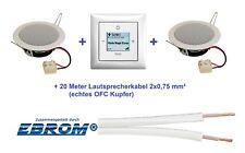 Busch Jäger Unterputz iNet Internet Radio 8216 U Balance SI + Einbaulautsprecher