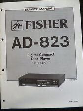 Original Service Manual Fisher Disc Player AD-823