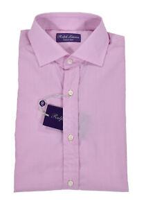 Ralph Lauren Purple Label Pink Dot Dress Shirt New $395