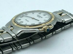 Raymond Weil 9190 Parsifal Two Tone 18K Gold Stainless White Dial JUST SERVICED