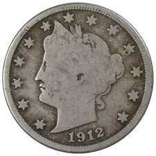 1912 D 5c Liberty V Nickel Us Coin