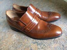 8d3438dc45 vtg NUNN BUSH BRASS BOOT patent leather wing tip oxford mens dress shoes sz  10 D