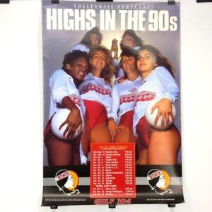 "VTG 1990 Florida State University FSU Volleyball Poster Approximately 26"" x 39"""