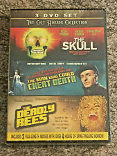Cult Horror Collection Skull / Man Who Could Cheat Death / Deadly Bees (DVD) NEW