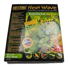 "Exo Terra Rainforest Calor Mat Medio 10 ""x 11"" Reptil Hagen Vivero pt2024"