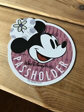 Authentic 2019 Walt Disney World Annual Passholder Magnet Minnie Mouse Food Wine