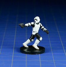 Star Wars miniatures mini Scout Trooper #33 Rebel Storm, & card