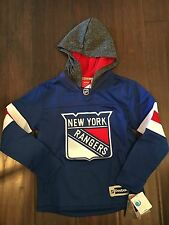 New York Rangers NEW Youth Small Vintage Pullover Hooded Sweatshirt . NHL Hoodie