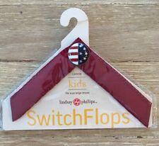 Lindsay Phillips Switchflops Straps Betsy KIDS Size L - USA Flag Red White Blue