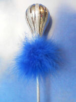 Fairy Dust Wand - Sprinkles Glitter w/ Dark Blue Boa for Princess Dress Up