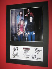 New listing Led Zeppelin A4 Photo Mount Signed Reprint Autographs Robert Plant Jimmy Page
