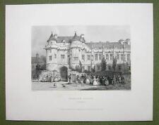SCOTLAND Falkland Palace Hunting Seat - 1860s Engraving Print