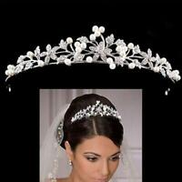 Princess Wedding Bridal Rhinestone Crystal Crown Hair Headband/ Tiara O7Q6