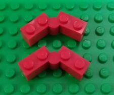 *NEW* Lego Red Hinge 1x2 Interlocking Hinge Swivel Bricks 1x4 Complete 2 pieces