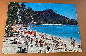 WAIKIKI BEACH HAWAII -- 350 Piece Springbok Jigsaw Puzzle 100% Complete Vintage