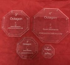 "Acrylic Octagon Quilting Template Set  (set of 4) (1"", 2"", 3"", 4"")"
