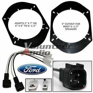 """SA68 + SHFD03B 5""""X7"""" 6X8"""" To 6.5"""" Speaker Adapter Plate Mount + Adapters Harness"""
