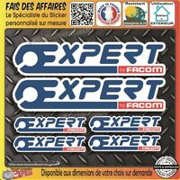 6 Stickers autocollant  expert by Facom bricolage adhésif sponsor tuning outil