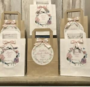 Personalised Vintage Hen Party Favour Bags/Birthday/ Baby shower/Eid /Wedding