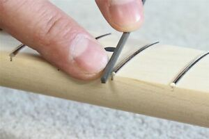 Small Fret End Dressing File with one smooth edge to prevent fingerboard damage