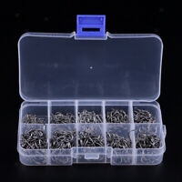 MagiDeal 500pcs High Carbon Steel Fishing Hooks Carp Bass Bream Fishing Tool