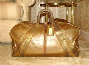 RARE Vintage MacGregor Gold Gen. Kangaroo Leather Duffle Carry On Weekend Bag!