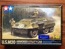 TAMIYA 1/48 U.S. M20 Armour Utility Car Plastic Model Kit # 32556 Factory Sealed