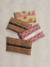 Tissue Holder - Personal. Lot of FOUR. Handmade - Fabric. NEW.