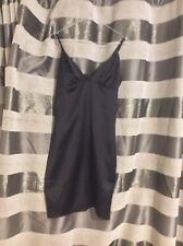 River Island ladies black satin strappy cocktail dress size 8 UK