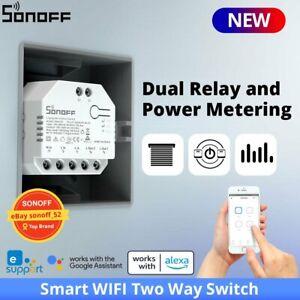 SONOFF DUALR3 Dual Relay Module WIFI Smart DIY MINI Switch Two Way Power Measure