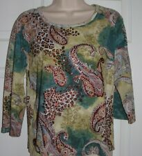 Gaudy Couture Ladies Size L Beautiful Multi-colored Top
