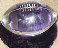 Vintage 50's Sasaki Lead Crystal Football Paperweight 100mm x 50mm, velvet pad