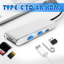 7in1 Aluminum Type-C Usb Hub Adapter 4K Hdcard Reader Usb 3.0 + Pd Charging .