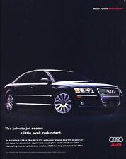 2006 2005 Audi A8 W12 Original Advertisement Print Art Car Ad J964