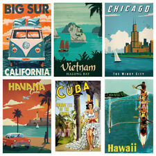 VINTAGE TRAVEL POSTERS City Country Wall Art Retro Print/poster holiday