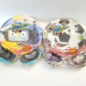 Hefty Sports Pals Coated Paper Plates Compartment Dip Soccer Swimming Lot 2