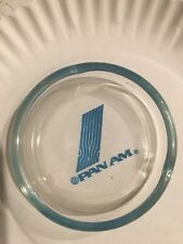 "NEW VINTAGE 1960'S PAN AM 4"" GLASS ASHTRAY"