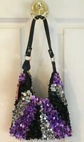 Sequin Purse Handbag by Sassi Cindi Collection   Transetter color Multi